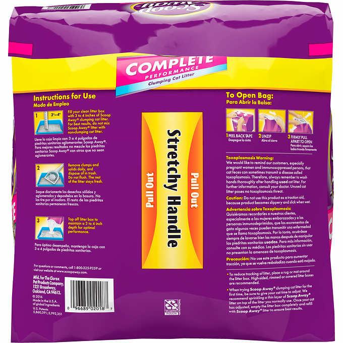 Scoop Away Complete Low Dust Cat Litter Bag  Lbs