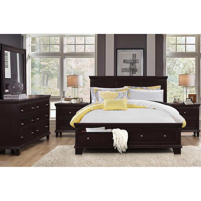 Alton 5-piece Queen Storage Bedroom Collection,Dovetail