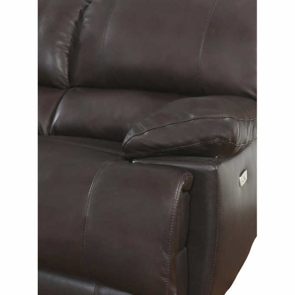 Arleta 3 Piece Top Grain Leather Power Reclining Living
