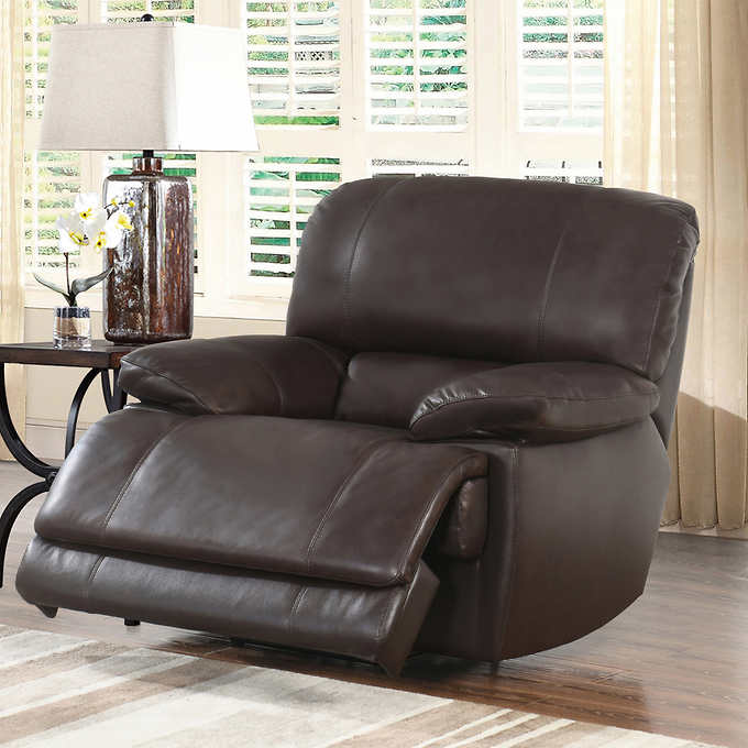 Arleta 3 Piece Top Grain Leather Power Reclining Living Room Set