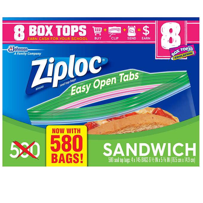 Wrapsziploc Sandwich Bags 580 Count Liners Wraps