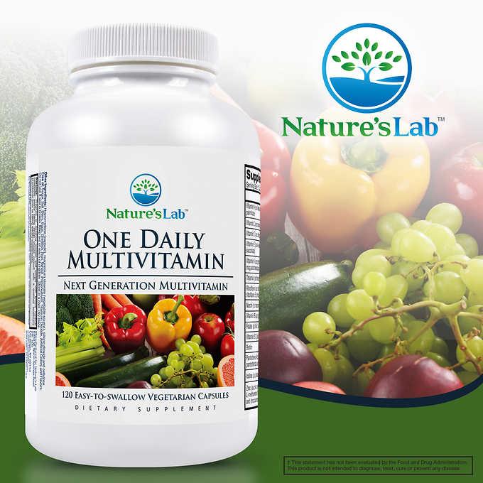 Nature S Lab One Daily Multivitamin  Vegetarian Capsules